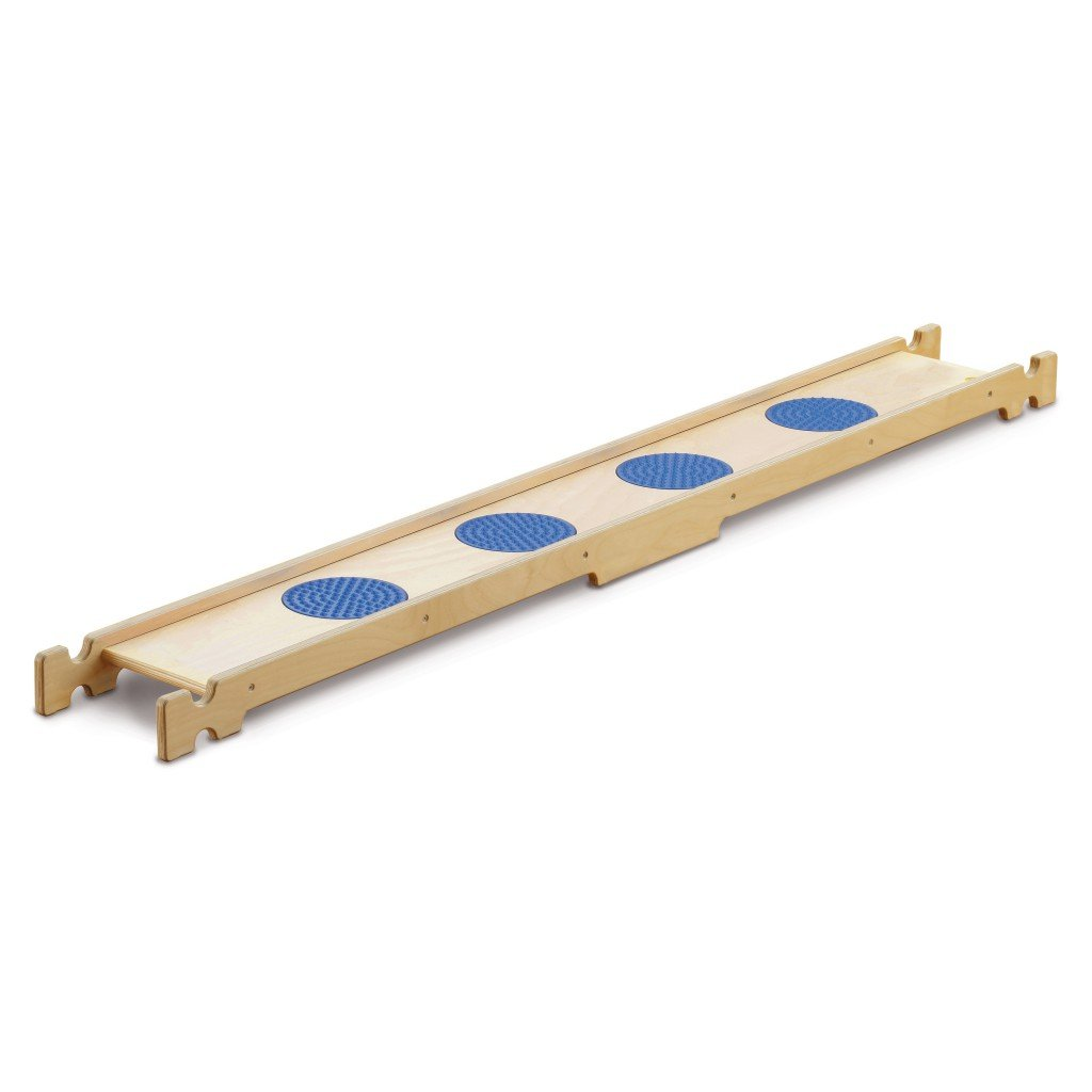 Erzi Balancierbrett Senso, Gleichgewichtsbrett, Fühlbrett, aus Birkensperrholz, Maße 190 x 24 x 8,5 cm, blau-natur jetzt kaufen