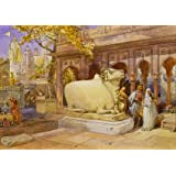 The Bull Nandi in the courtyard of the Golden Temple, by William Simpson (V&A Custom Print)