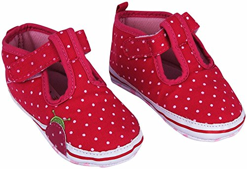 Ollington Street Pre-walker Shoes Pink With Polka Dots (3-6 Mths)