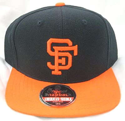 MLB Men's San Francisco Giants Cooperstown 400 Snapback Cap (Black/Orange, Adjustable)