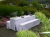 Hussen-Set 3-teilig für Festzeltgarnituren mit 50cm Tischbreite