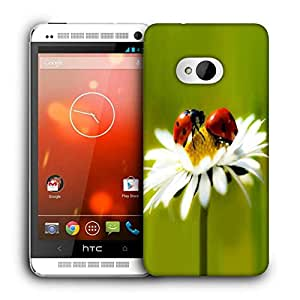 Snoogg Beatel And Water Drops Printed Protective Phone Back Case Cover For HTC One M7
