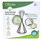 OttLite 2CYSVB  LED Cone Desk Lamp, Silver Finish