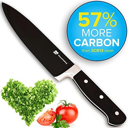 premium blackline tm forged 8 chef knife stays sharp longer with 57 more carbon with. Black Bedroom Furniture Sets. Home Design Ideas