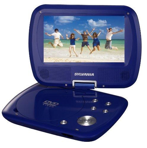 Sylvania SDVD7037 7-Inch Portable DVD Player with Swivel Screen - Blue