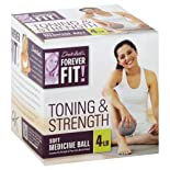 Forever Fit by Denise Austin, Medicine Ball, Soft, Toning & Strength, 4 lb 1 ball