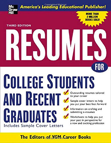 Resumes For College Students And Recent Graduates (Mcgraw-Hill Professional Resumes)