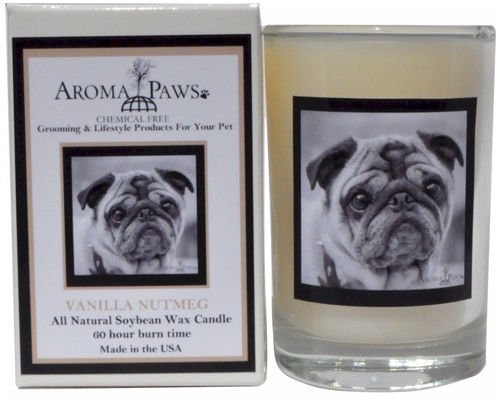 Aroma Paws 306 Breed Candle 5 Oz. Glass-Gift Box - Pug