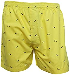 Shy Guy Pleasure Wear Men's Cotton Boxer Shorts (Yellow)