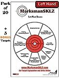 "Diagnostic Target for Shooting (Pack of 20 + 5 bonus)    For Handguns    High Visibility    11"" X 17""    Error Analysis and Correction Training Target    Bonus 5 Dot Torture Drill Pistol Targets    Used for Improving Shooting Skills"