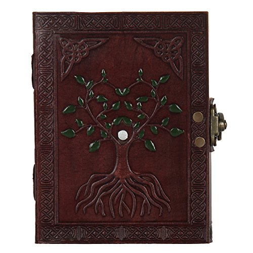 Hand Painted Tree of Life Leather Journal Diary Notebook Men Women Gifts Small (Personal Diary compare prices)