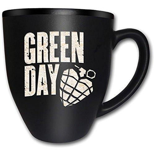 Green Day-Tazza in ceramica-Logo-American Idiot-con incisione-Confezione regalo