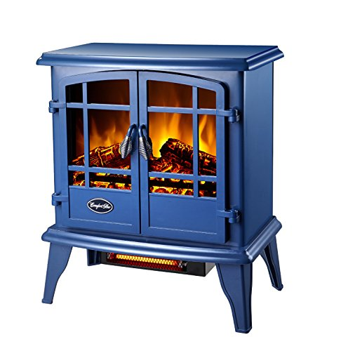 World Marketing Eqs133 Comfort Glow Electric Stove, Blue