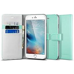 iPhone 6s Plus Case, iPhone 6 Plus Case Wallet, Spigen® [Wallet S] Stand Feature [Mint] Premium Wallet Case STAND Flip Cover for iPhone 6s Plus (2015) / iPhone 6 Plus (2014) - Mint (SGP10920)