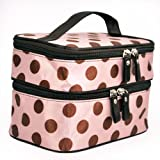 Pink Retro Pro Dot Beauty Case Makeup Bag Large Cosmetic Toiletry Bag