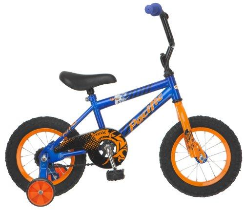 Pacific Boy's Flex 12-Inch Bicycle, Blue/Orange