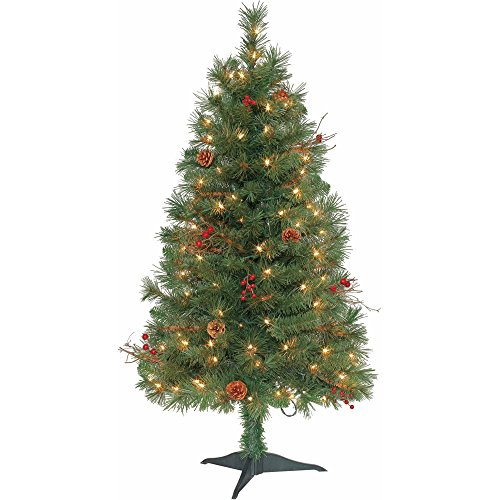 Pre-Lit 4 Feet Chester Pine Clear Lights