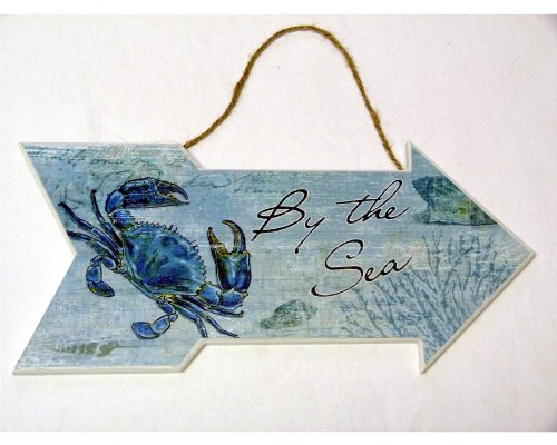 By The Sea Features A Blue Crab - Beach House or Cottage Decor - Ocean - 13