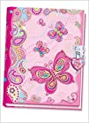 Pecoware  Secret Diary with Lock Fancy Butterfly