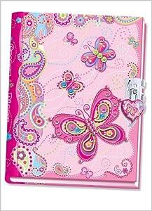 Pecoware / Secret Diary with Lock, Fancy Butterfly