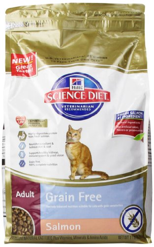 Hill'S Science Diet Adult Grain-Free Salmon Dry Cat Food, 11-Pound
