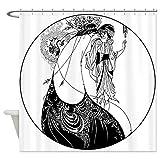 CafePress - Art Nouveau Beardsley Peacock Skirt Shower Curtain - Decorative Fabric Shower Curtain