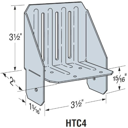 50 Pack Simpson Strong Tie HTC4 4x Heavy Truss Clips