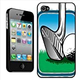 Fancy A Snuggle Coque à clipser pour iPhone 44S Motif club de golf frappant une balle