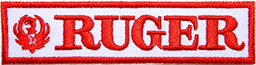 [RUGER FIREARMS Gun Shooting Sport Logo Sign Symbol Patch Iron on Applique Embroidey Decal T shirt Jacket Costume Gift BY] (Top Gun Costume Patches)