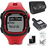 Garmin Forerunner 15 Large - Red Black Bundle