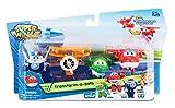 Super Wings - Transform-A-Bots 4 Pack- Jett, Mira, Paul & Grand Albert
