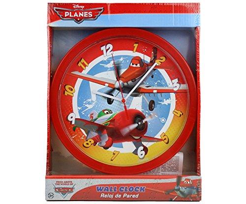 Disney Planes Wanduhr Kinder Uhr Kinderuhr für Kinderzimmer Analoguhr Wall Clock Dekoration Wanddeko – 25 cm Durchmesser mit Motiv Planes Disneymotiv jetzt bestellen