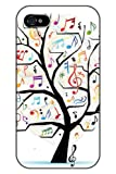 SPRAWL Stylish Unique Design Colorful Music Notes Hard Plastic Snap on iPhone 4s Case Tree of Life