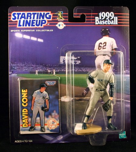 DAVID CONE / NEW YORK YANKEES 1999 MLB Starting Lineup Action Figure & Exclusive Collector Trading Card