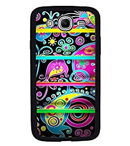 Fuson Premium 2D Back Case Cover Black pattern With Black Background Degined For Samsung Galaxy Mega 5.8 i9150::Samsung Galaxy Mega 5.8 i9152