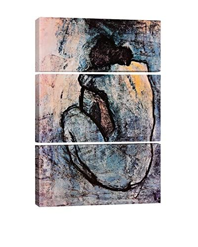 Pablo Picasso Blue Nude 3-Piece Canvas Print