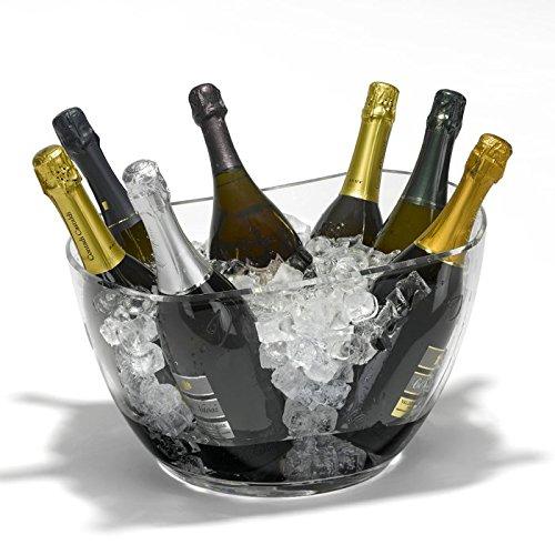 Vasque à champagne Eclipse transparente 7 bouteilles - Verrerie de la Marne