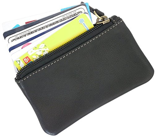 Leather-Coin-Purse-Change-Wallet-Card-Case-Small-Zip-Bag-For-Men-Women