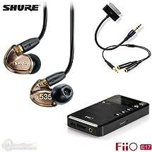 Shure SE535-V Earphones - Bronze + FiiO E17 Amp/Dac + L1 & Y Cables