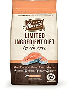 Merrick Limited Ingredient Diet Real Salmon and Sweet Potato Recipe Pet Food, 22-Pound