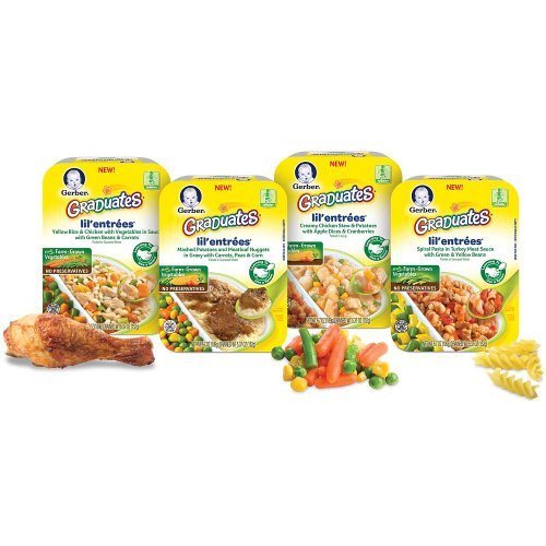 Gerber Graduates Lil' Entrees, Mashed Potatoes & Meatloaf Nuggets in Gravy with Carrots, Peas & Corn, 6.67 oz (Lil Graduates Entrees compare prices)
