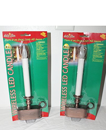 Led Christmas Candles For Windows