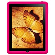 Amzer 87481 Silicone Skin Jelly Case - Hot Pink For Apple IPad