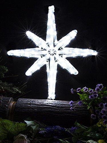 Star Of Bethlehem. Pure White. Christmas Lights. Christmas Decoration Yard Sign