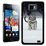 Fancy A Snuggle White Tiger Design Hard Case Clip On Back Cover for Samsung Galaxy S2 i9100