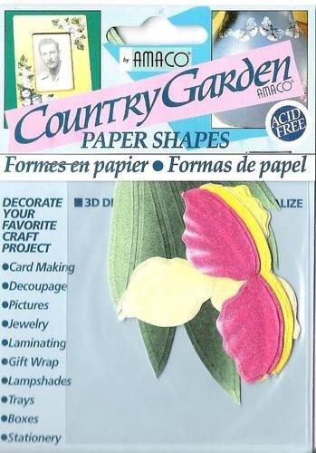 Narcisi e tulipani in carta pre-tagliati per decorazioni in 3D