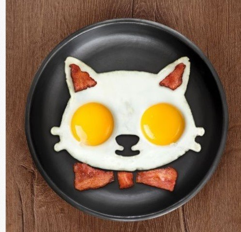 1pcs Creative Models for Silicone Cartoon, Cat shaper Fired Egg silicone Omelette - cooking kitchen tools (Restaurant Supplies Egg Pans compare prices)
