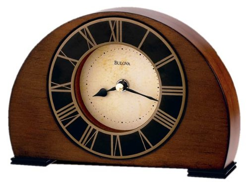 Bulova B7340 Tremont Clock, Antique Walnut Finish