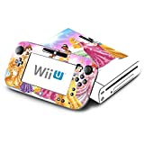 Princess Friends Sparkle Belle Rapunzel Tiana Decorative Decal Cover Skin for Nintendo Wii U Console and GamePad