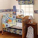 Bedtime Originals Super Sports 3 Piece Crib Bedding Set, Blue